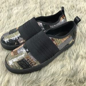 E8 By MIISTA Sequin Sparkly Sneakers Black 6